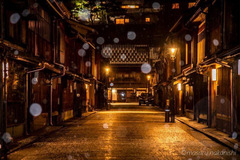 金沢・ひがし茶屋街の夜景