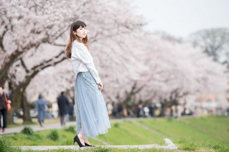 金沢市の桜とプロフィール写真撮影