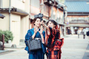 金沢・ひがし茶屋街で着物でのお出かけを撮影させていただきました