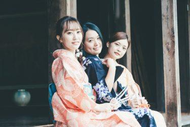 富山県射水市の太閤山ランドあじさい祭りにて着物撮影会を企画しました