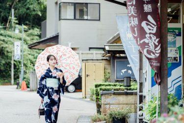 金沢市郊外の落ち着いた温泉街・湯涌温泉で浴衣撮影をしてきました。